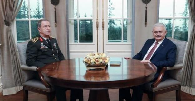 Başbakan Yıldırım Orgeneral Akarı'ı Kabul Etti