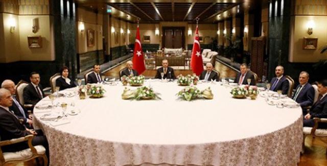 Cumhurbaşkanı Erdoğan, Yasama Yürütme Ve Yargı Organlarının Temsilcileri İle Bir Araya Geldi