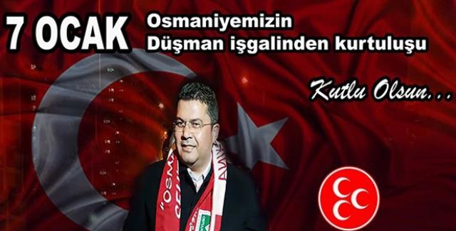 "MHP'li Ersoy, ""7 Ocak Kurtuluş Bayramı Kutlu Olsun!"""