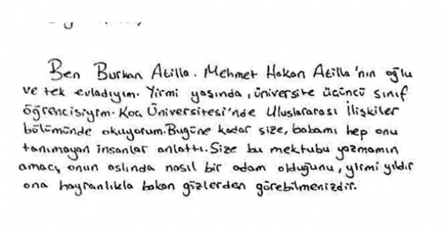 Mehmet Hakan Atilla İçin Hakim Berman'a 102 Duygusal Mektup