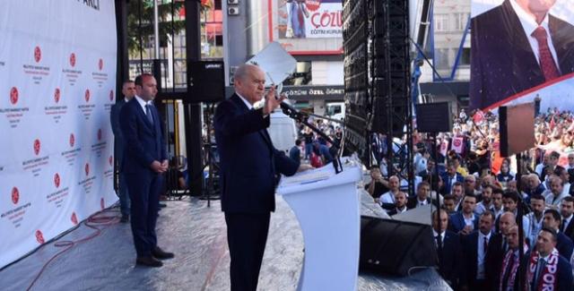 """Bahçeli: """"CHP, İP, HDP, PKK, FETÖ Toplanmışlar, Hep Aynı Kirli Söylemi Tekrarlıyorlar"""""""