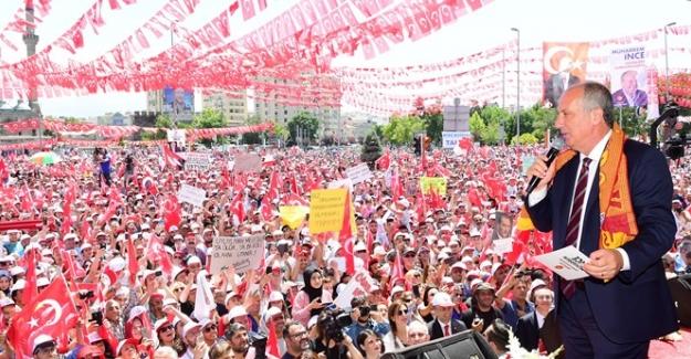 İnce'den Erdoğan'a Slogan: Vakit Jübile Vaktİ