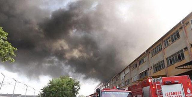 İstanbul'da İplik Fabrikasında Yangın!