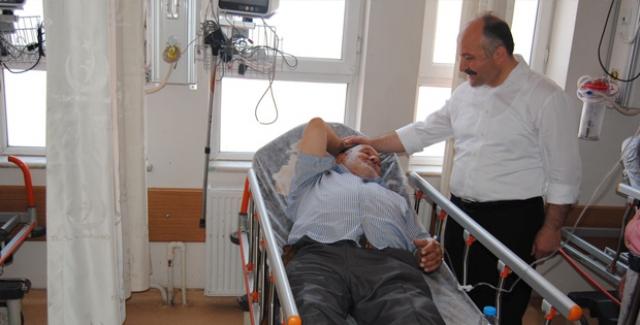 MHP'li Usta'dan Hastanelere Ziyaret