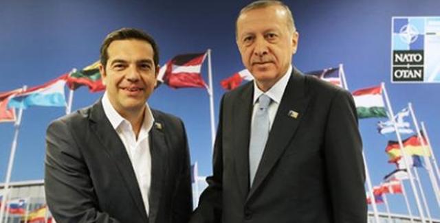 Cumhurbaşkanı Erdoğan, Yunanistan Başbakanı Çipras'ı Kabul Etti