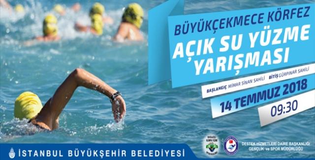 İstanbul Büyükşehir Belediyesi Büyükçekmece Körfezi'nde Yüzme Yarışı Düzenliyor