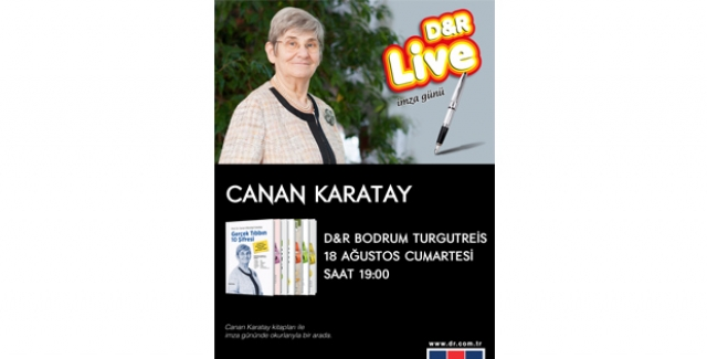 Canan Karatay D&R Bodrum Turgut Reis'te Okuyucularıyla Buluşuyor