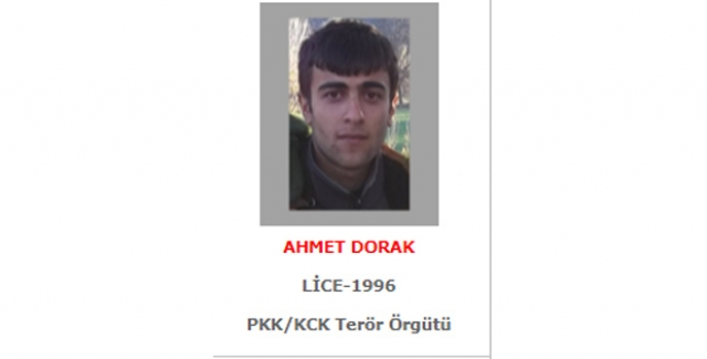 PKK'nın Sözde Bölge Sorumlusu Gri Listedeki Ahmet Dorak Etkisiz Hale Getirildi