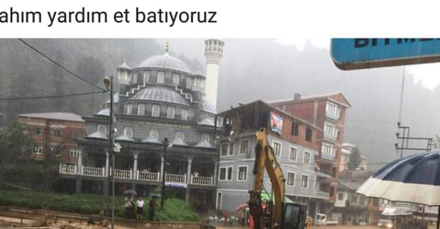 Rize'yi Taşkın Vurdu, Belde Belediye Başkanı Balcı: Allahım Yardım Et Batıyoruz