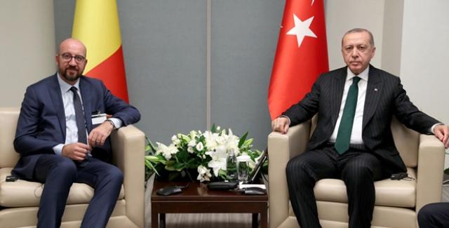 Cumhurbaşkanı Erdoğan, Belçika Başbakanı Michel'i Kabul Etti