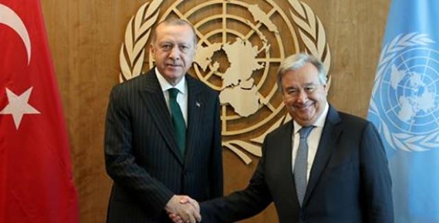 Cumhurbaşkanı Erdoğan, BM Genel Sekreteri Guterres İle Bir Araya Geldi