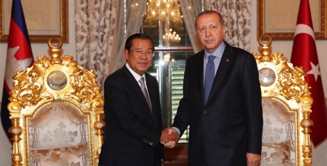 Cumhurbaşkanı Erdoğan Hun Sen'i Kabul Etti