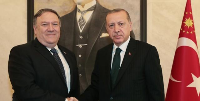 Cumhurbaşkanı Erdoğan İle Pompeo Görüşmesi Başladı