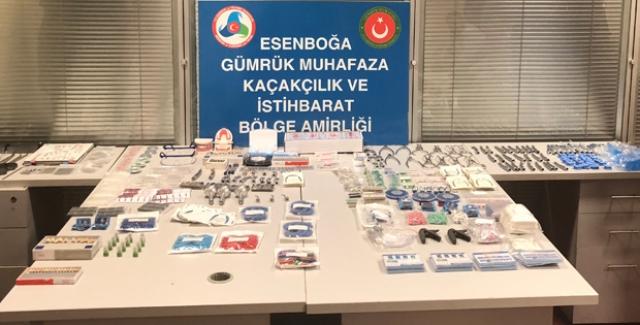 Esenboğa'da İnsan Sağlığına Zararlı Diş Malzemeleri Yakalandı