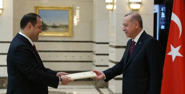 Cumhurbaşkanı Erdoğan, Gürcistan Büyükelçisi  Janjgava'nın Güven Mektubunu Kabul Etti
