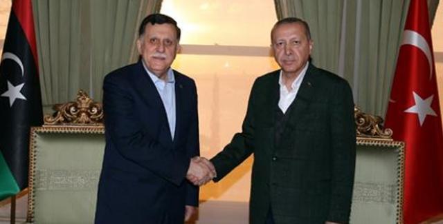 Cumhurbaşkanı Erdoğan, Libya Başkanlık Konseyi Başkanı Al-Sarraj'ı Kabul Etti