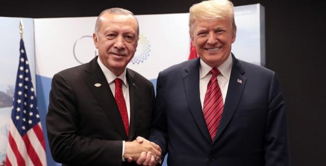 Cumhurbaşkanı Erdoğan, ABD Başkanı Trump İle Bir Araya Geldi