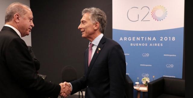 Cumhurbaşkanı Erdoğan, Arjantin Cumhurbaşkanı Macri İle Görüştü