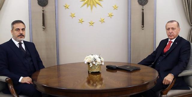 Cumhurbaşkanı Erdoğan, MİT Başkanı Hakan Fidan'ı Kabul Etti