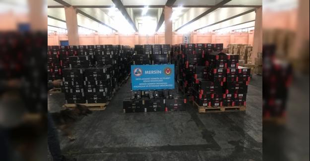 Mersin Limanı'nda 1 Milyon 279 Bin Paket Sigara Ele Geçirildi