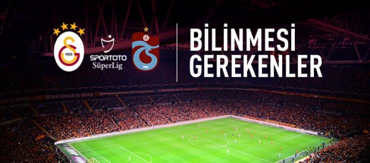 Galatasaray-Trabzonspor Maçı Öncesi Notlar