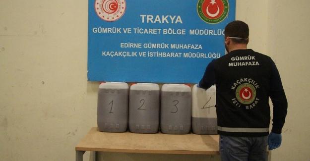 Kapıkule'de Eroin Yapımında Kullanılan 115 Kilogram Asetik Anhidrit Ele Geçirildi