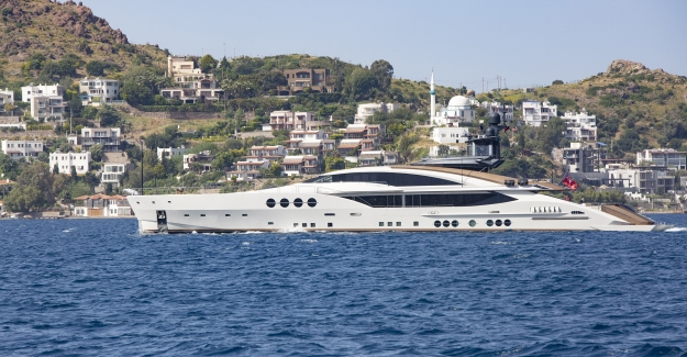 65 Metre Boyundaki Muhteşem Motorlu Yat Lady M, Yalıkavak Marina'yı Ziyaret Etti!
