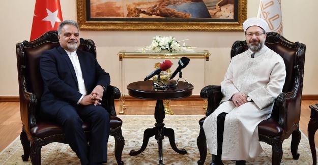 Başkan Erbaş, İran Büyükelçisi Muhammed Farazmand'ı Kabul Etti