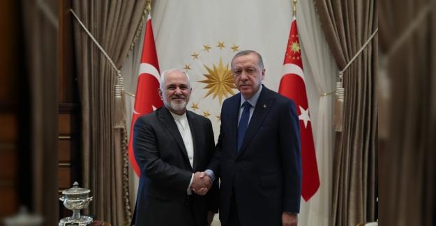 Cumhurbaşkanı Erdoğan, İran Dışişleri Bakanı Zarif'i Kabul Etti