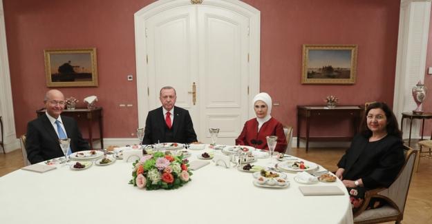 Cumhurbaşkanı Erdoğan, Irak Cumhurbaşkanı Salih'i İftar Programında Ağırladı