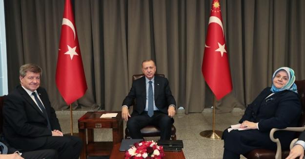 Cumhurbaşkanı Erdoğan, Uluslararası Çalışma Örgütü Genel Direktörü Ryder'i Kabul Etti