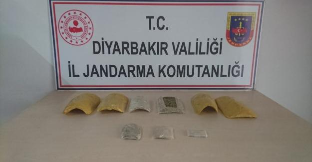 Diyarbakır'da 1.000 Gram Esrar Maddesi Ele Geçirildi