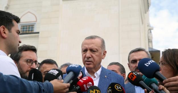Cumhurbaşkanı Erdoğan'dan Bayram Namazı Sonrası Açıklamalar