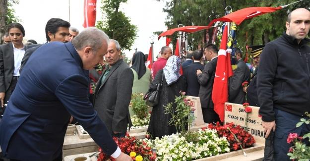 TBMM Başkanı Şentop 15 Temmuz Demokrasi Şehitliği'ndeki Anma Programına Katıldı