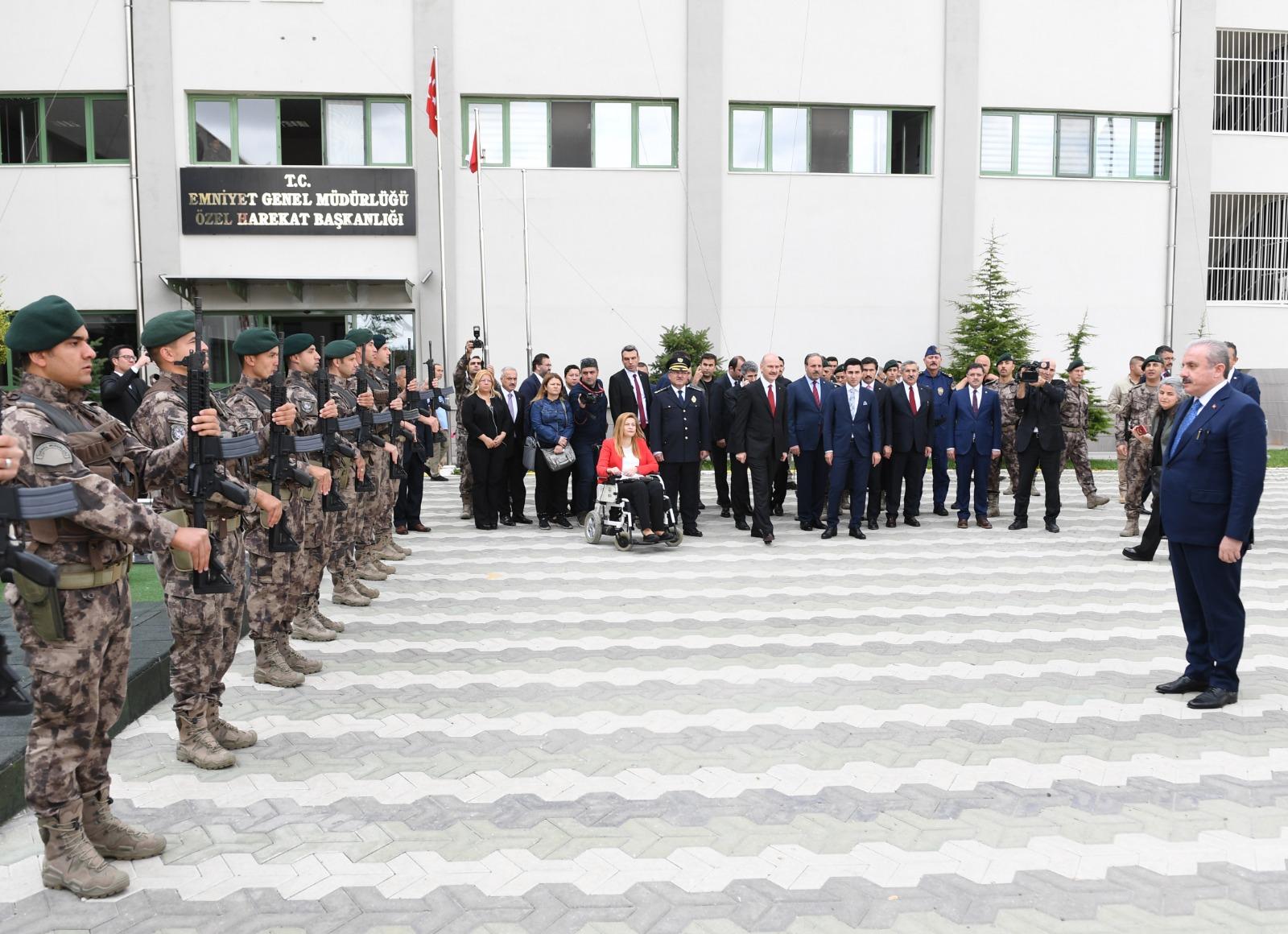TBMM Başkanı Şentop Gölbaşı Özel Harekat Başkanlığını Ziyaret Etti