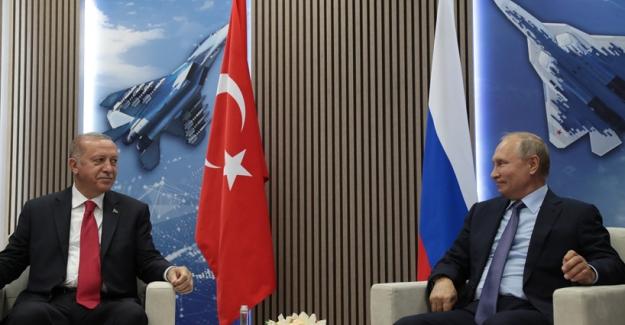 Cumhurbaşkanı Erdoğan, Rusya Devlet Başkanı Putin İle Görüştü