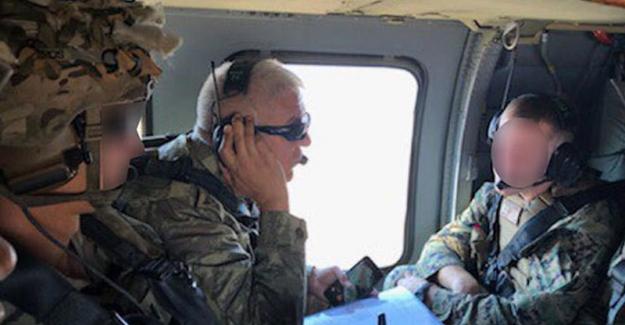 Güvenli Bölgede Türk-ABD'li Komutanların İştirak Ettiği İlk Ortak Helikopter Uçuşu Gerçekleşti