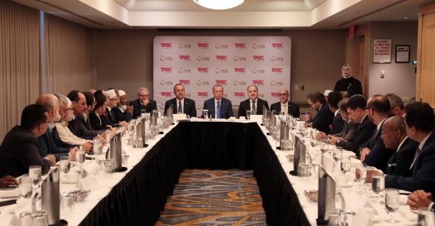 Cumhurbaşkanı Erdogan, ABD'deki Müslüman Toplumu Temsilcileriyle Bir Araya Geldi