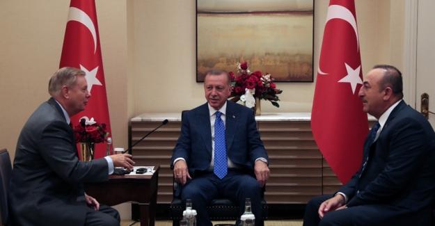 Cumhurbaşkanı Erdoğan, ABD'li Senatör Graham'ı Kabul Eetti