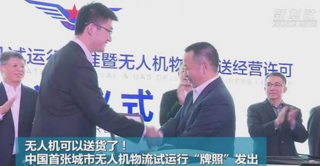 Çin'de Drone'la Kargo Teslimatı Dönemi Başlıyor
