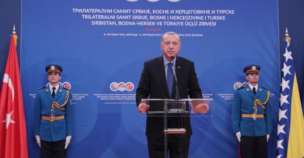 Cumhurbaşkanı Erdoğan, Türkiye-Sırbistan-Bosna Hersek Üçlü Liderler Zirvesi'ne Katıldı