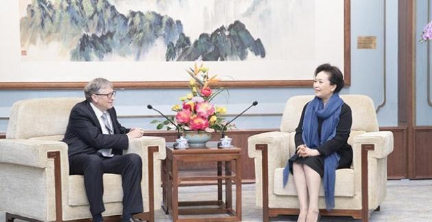 Çin'in First Lady'si Bill Gates İle Görüştü