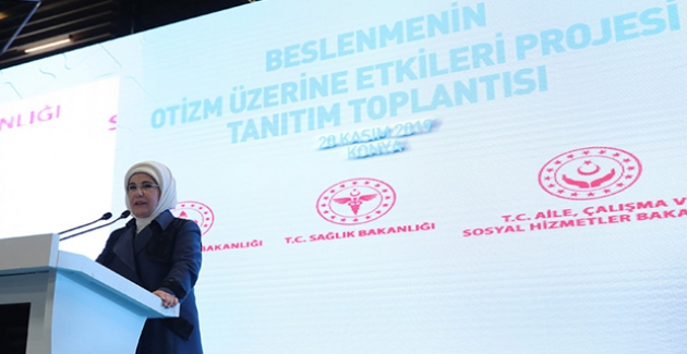 Emine Erdoğan, Beslenmenin Otizm Üzerine Etkileri Projesi Tanıtım Toplantısı'na Katıldı