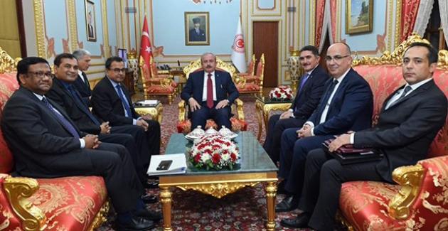 TBMM Başkanı Şentop, Bangladeş Maliye Bakanı Kamal Ve Beraberindeki Heyeti Kabul Etti