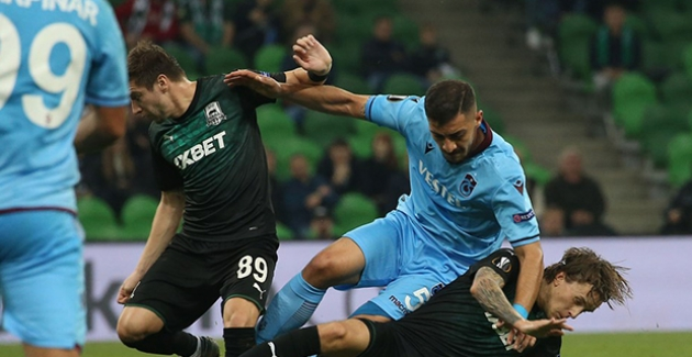 Trabzonspor, Krasnodar'a Mağlup Oldu