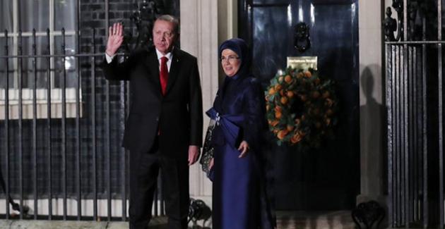Cumhurbaşkanı Erdoğan, NATO Üyesi Ülke Liderleri Ve Eşleri Onuruna Verilen Akşam Yemeğine Katıldı