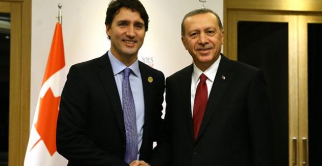 Cumhurbaşkanı Erdoğan, Kanada Başbakanı Trudeau İle Telefonda Görüştü