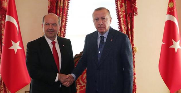 Cumhurbaşkanı Erdoğan, KKTC Başbakanı Ersin Tatar İle Bir Araya Geldi