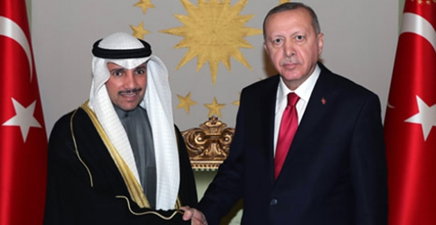 Cumhurbaşkanı Erdoğan, Kuveyt Ulusal Meclis Başkanı El Ganim'i Kabul Etti