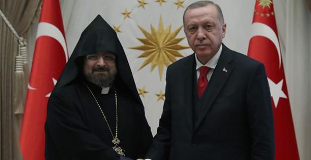 Cumhurbaşkanı Erdoğan, Türkiye Ermenileri Patriği Maşalyan'ı Kabul Etti